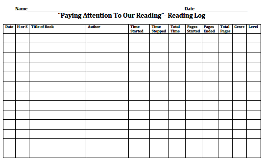 17 Best images about Reading Logs on Pinterest | Home reading log ...