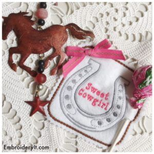 Cowboy and Cowgirl Machine Embroidery Lollipop Holders - Embroidery It