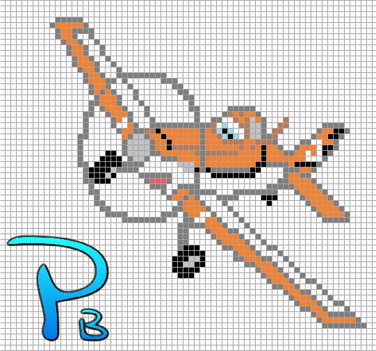 Dusty Planes Perler Pattern Patrones Beads Plantillas