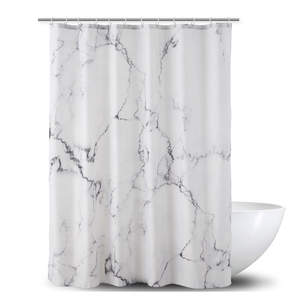 Ao Blare Marble Shower Curtain For Bathroom Black White Marble