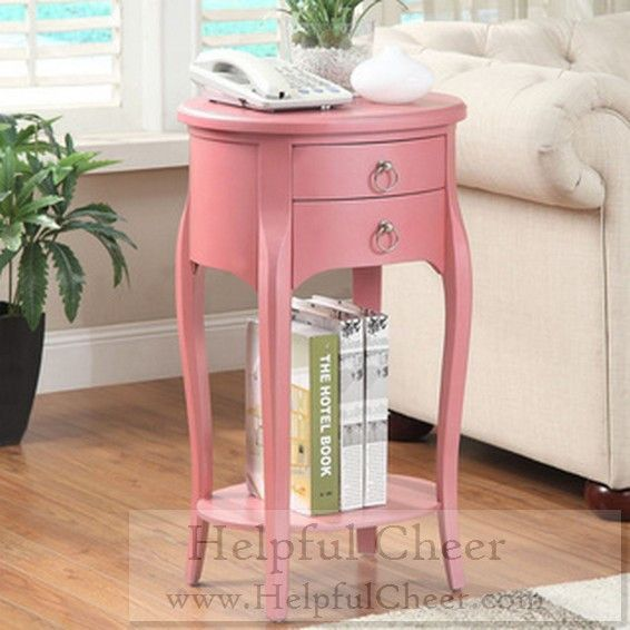 Ashton Pink Single-drawer Side Table - at - 0153 - Your Online ...