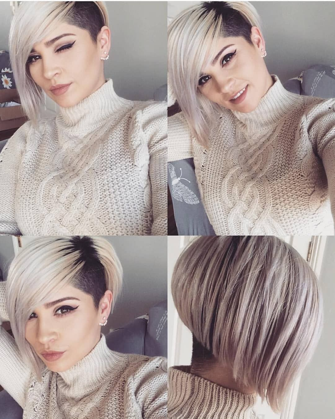 Short Hair Pixiecut Undercut On Instagram Model Lenna Kf Bobhaircut Sidecut Shavednape Ucfee Short Hair Styles Short Pixie Haircuts Hair Styles