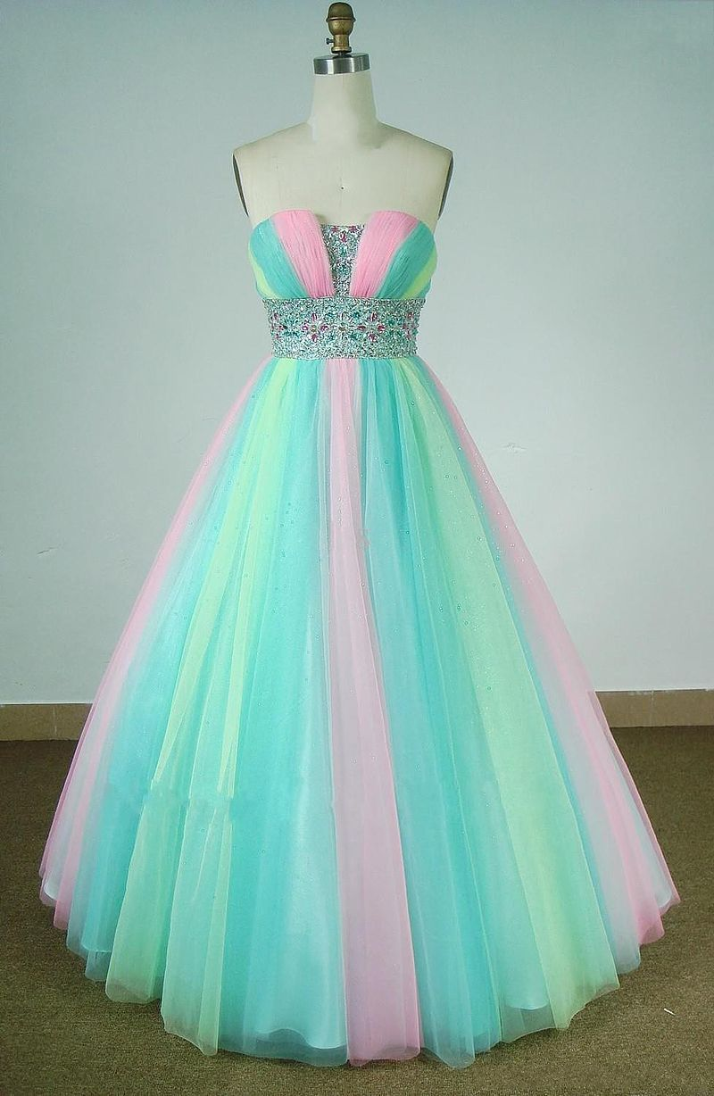 Beautiful Multi Color Prom Formal E Colorful Prom Dresses Pageant Evening Gowns Ball Gowns Prom [ 1228 x 800 Pixel ]