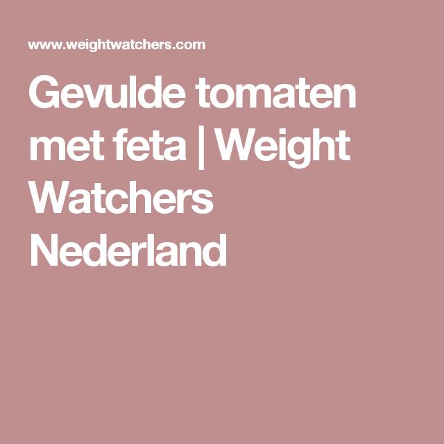 Gevulde tomaten met feta | Weight Watchers Nederland