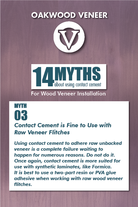 14 Myths About Using Contact Cement Myth 3 In 2020 Contact Cement Wood Veneer Cement