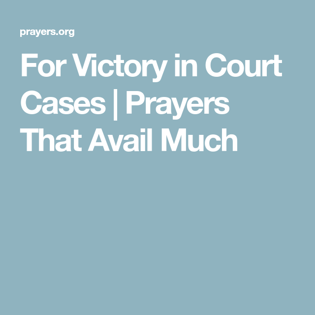 For Victory in Court Cases | Prayers That Avail Much | God's