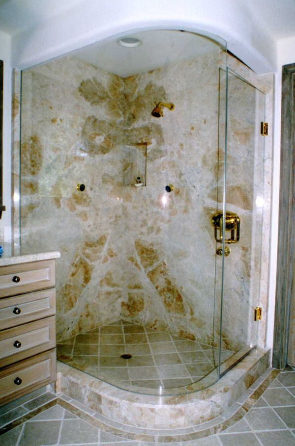 Bent Glass Showers Bonita Springs Florida Bagno Piccolo Bagno