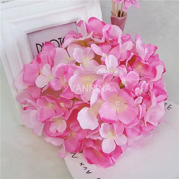 Outdoor Wedding Ceremony Doors: Artificial Silk Hydrangea Flower 10 Outdoor Wedding