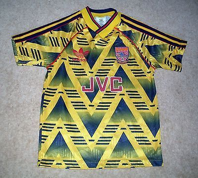 44cec63dd99 V.rare!! 1991-93 classic retro  arsenal  bruised  banana  away shirt ...