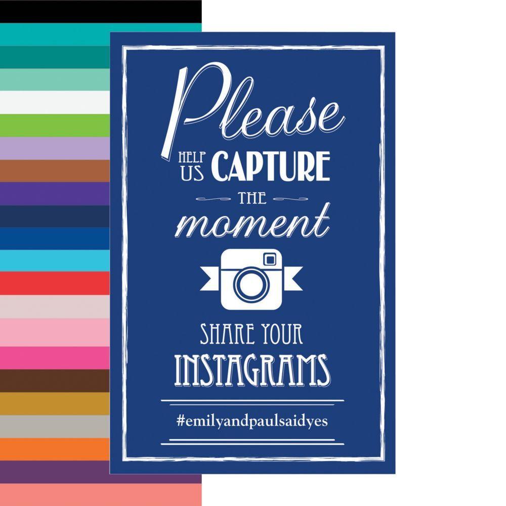 Wedding Hairstyle Hashtags: Personalized Wedding Instagram Hashtag Sign