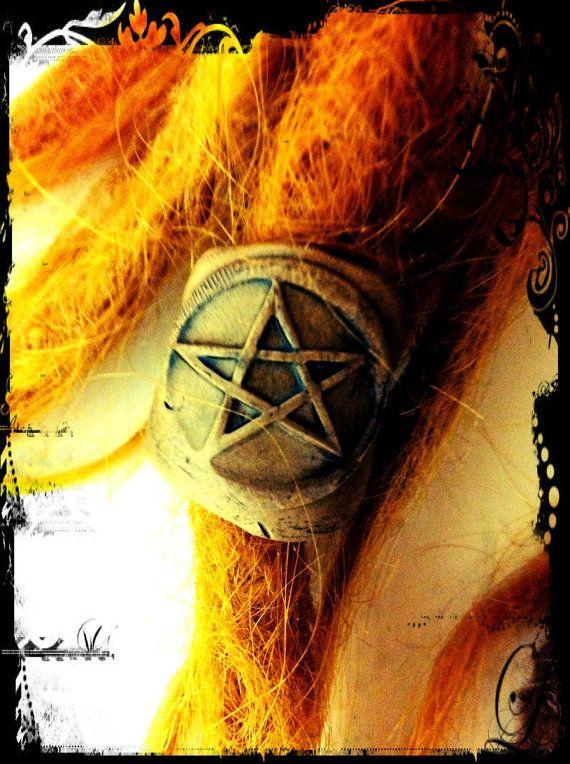 Pentagram Dread Bead by themindfulmushroom on Etsy, $10.00