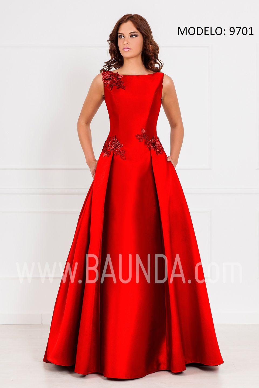Vestido largo madre de la novia 2017 XM 9701 rojo