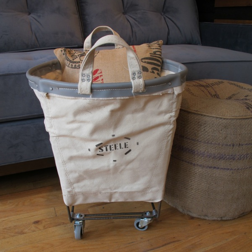 Laundry Tote Canvas Wheels A G Merch 115 18 W X 17 T