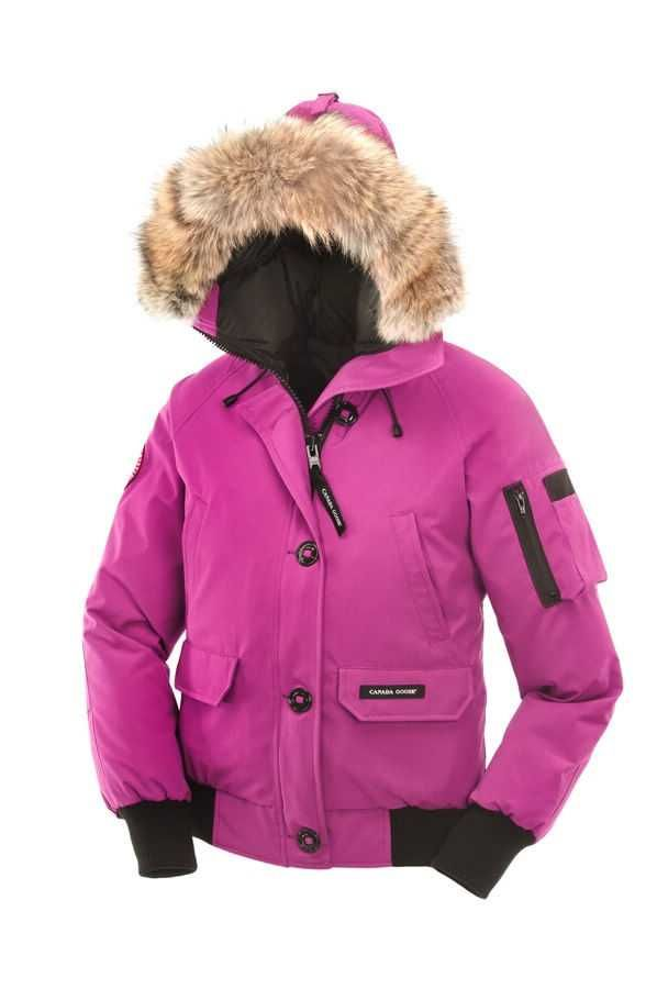 canada goose pink bomber jacket