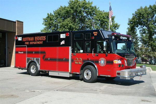 Hoffman Estates (IL) Fire Dept. Squad 22 Fire trucks
