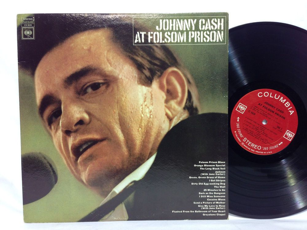 Johnny Cash At Folsom Prison Original Vinyl Record Lp Cs 9639 360 Sound Johnny Cash Albums Johnny Cash Johnny Cash Prison