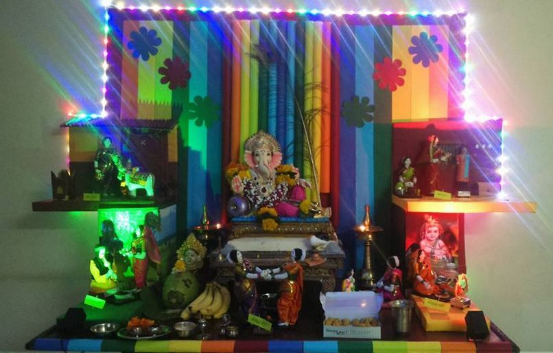 Ganesh Chaturthi Decoration Ideas Ganesh Pooja Decor Ganesh Decoration And Creative