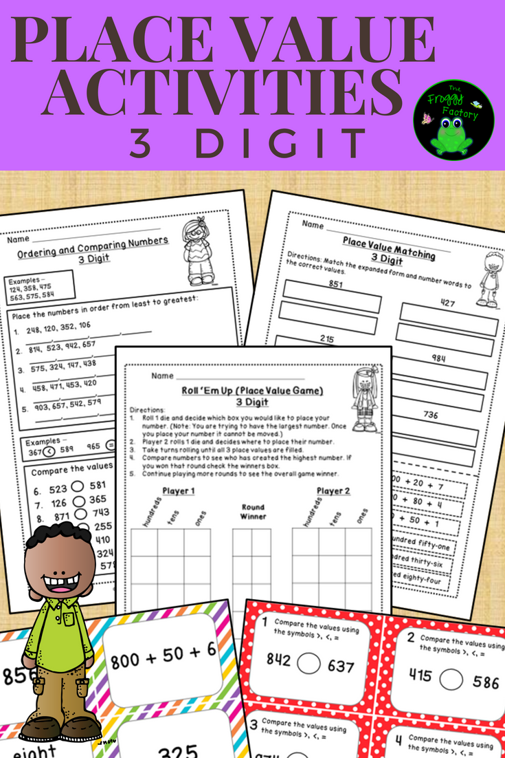 Place Value Worksheets and Activities - 3 Digit | Pinterest