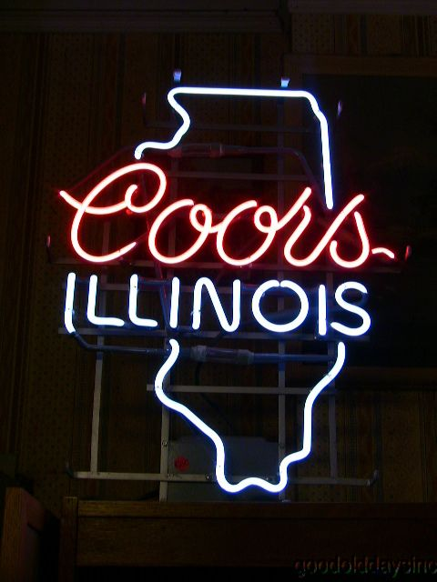 Vintage Neon Beer Signs Enchanting Authentic Vintage Coors Illinois Neon Beer Sign Bar Light  Neon