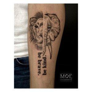 Tattoo the vegan world traveller vegan tattoo elephant for One of a kind tattoos