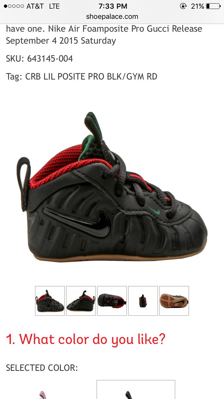 buy popular 296be b8778 My Baby boys Gucci Foamposites | Baby and Me in 2019 | Baby ...