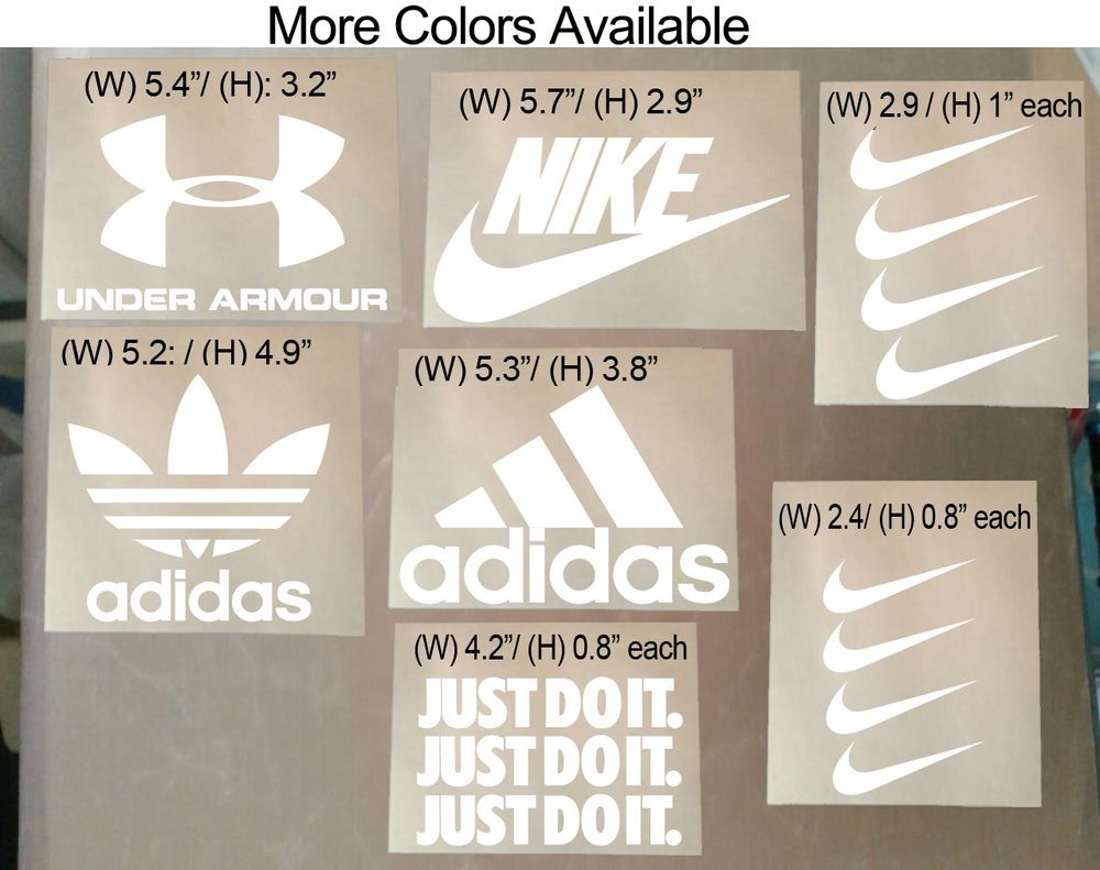 4536a915 15 Pcs Nike Iron On Heat Press Iron on Adidas Nike Patch Sports Logo Diy T  Shirt #Unbranded