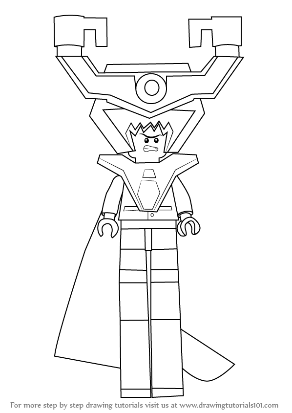 Learn How To Draw Lord Business From The Lego Movie The Lego Movie Step By Step Drawing Tutorials Lego Movie Coloring Pages Lego Movie Lego Coloring Pages