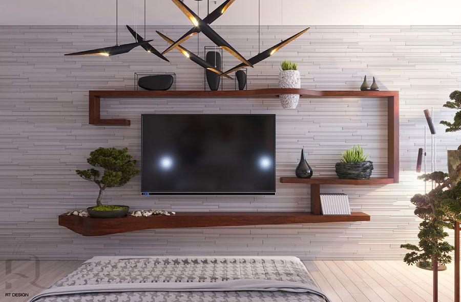 Parete tv idee di arredamento dal design originale pareti
