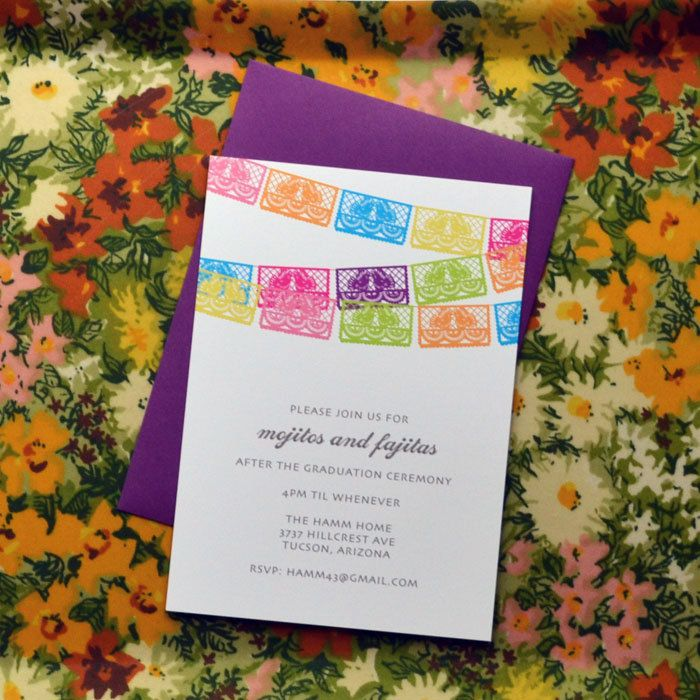 Fiesta Flags Party Invitation by avie on Etsy | Wedding Ideas ...