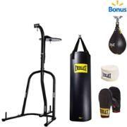 Everlast Three Station Heavy Duty Punching Bag Stand Walmart Com Heavy Bag Stand Punching Bag Stand Heavy Punching Bag