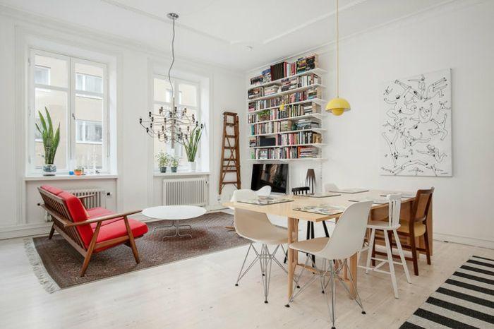 Wohnzimmer Wandgestaltung Ideen \u2013Deko für weiße Wand #rosa #fotowand