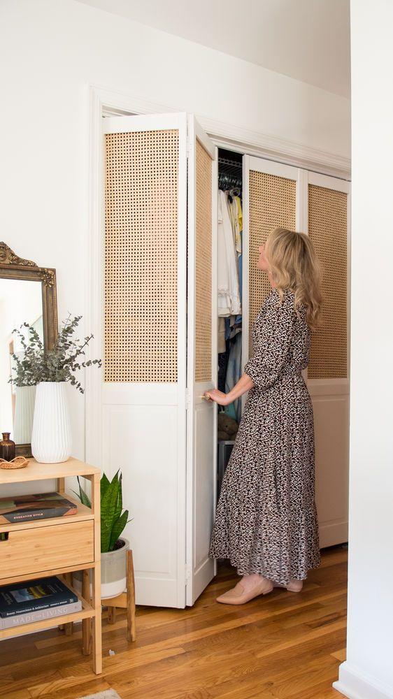 Photo of DIY Cane Closet Doors