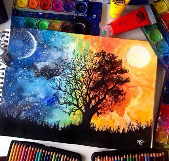 Fantastic Watercolor Pencils Works by: German Artist Jana Grote ...