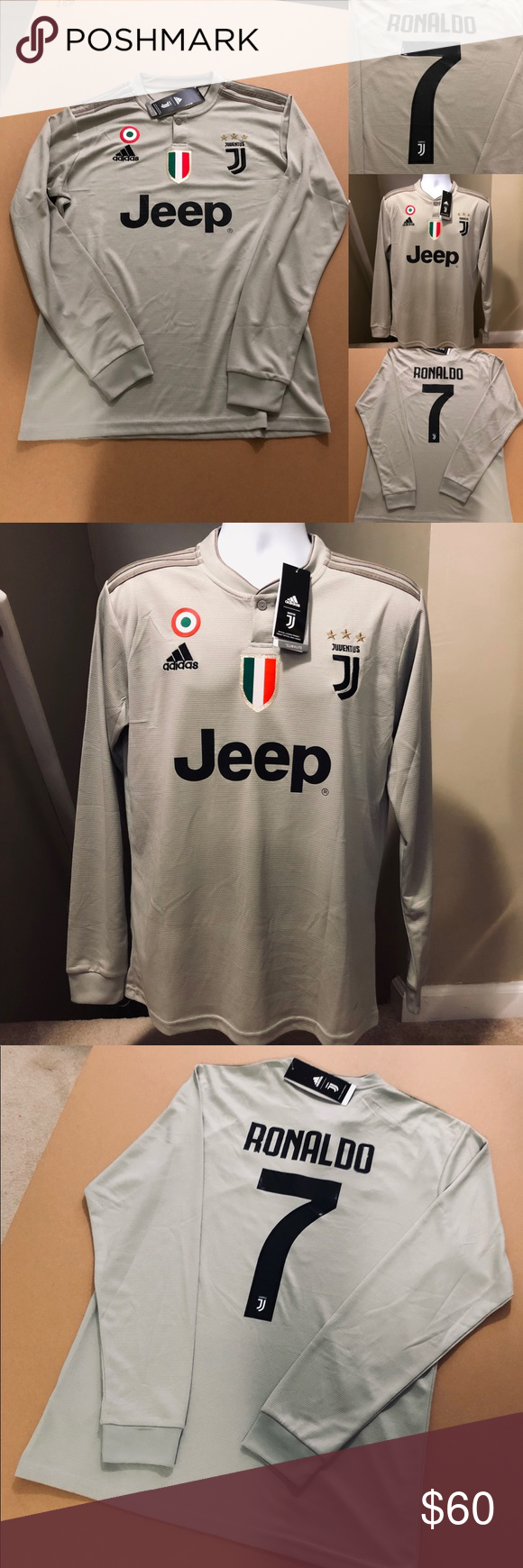 21e404b76 Cristiano Ronaldo  7 Away Juventus Soccer Jersey 2018-19 Juventus Football  Club • Futbol Soccer Jersey Football 2018 Away Tan Grey Juventus Soccer  Jersey ...