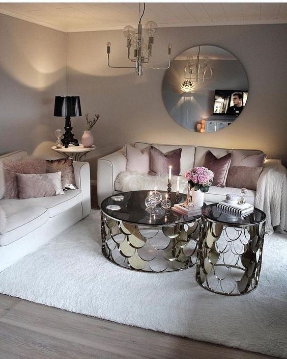 Muebles En Color Plateado Para Salas Modernas Decoracion De Interiores Decoracion De Interiores Salas Muebles Para Salas Pequenas