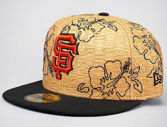 NEW ERA x MLB「San Francisco Giants Straw Fit」59Fifty Fitted Baseball Cap 77646d55a16