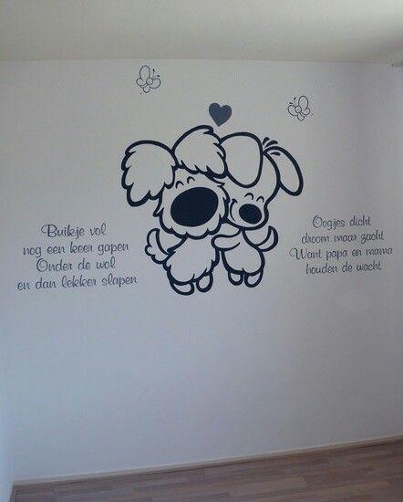 muurschildering woezel en pip | muurschilderingen | pinterest | babies, Deco ideeën