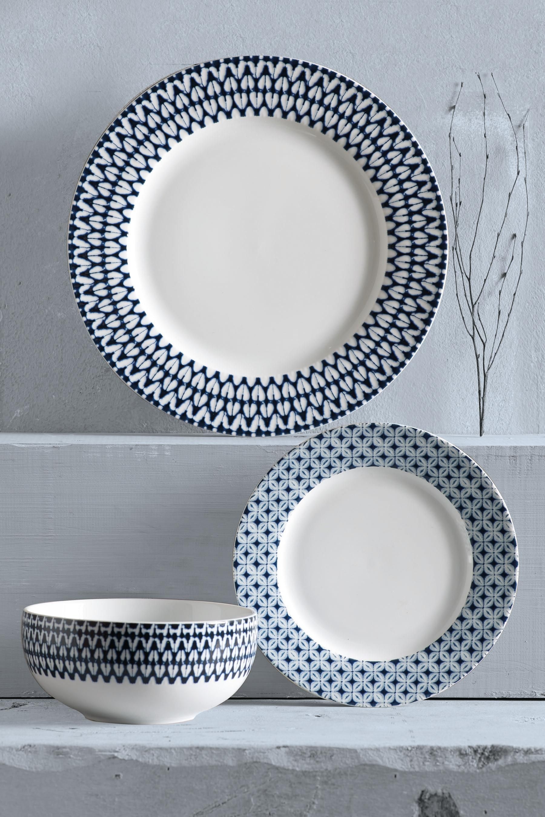 Buy 12 Piece Horizon Dinner Set from the Next UK online shop   House ...