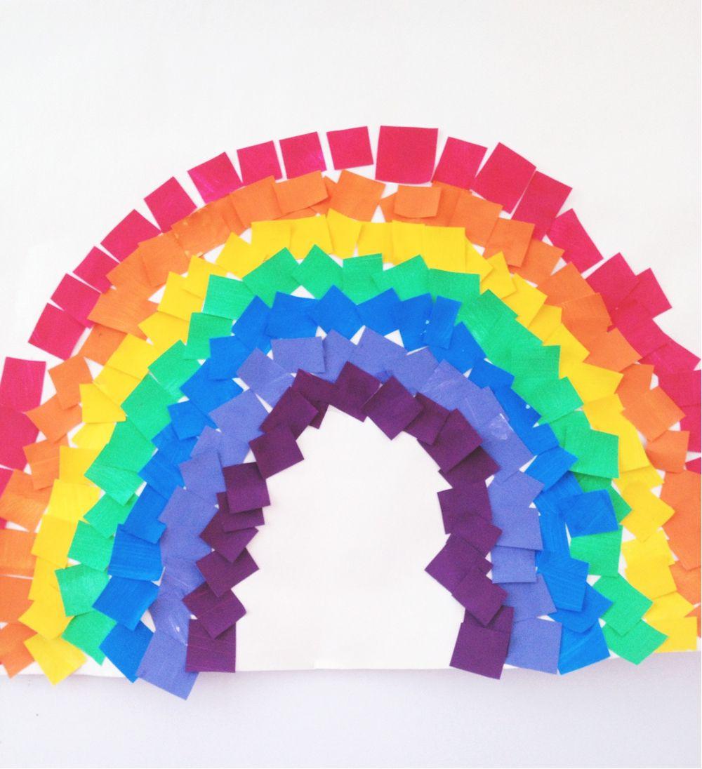rainbow preschool mosaic rainbow preschool weather activity toddler 968