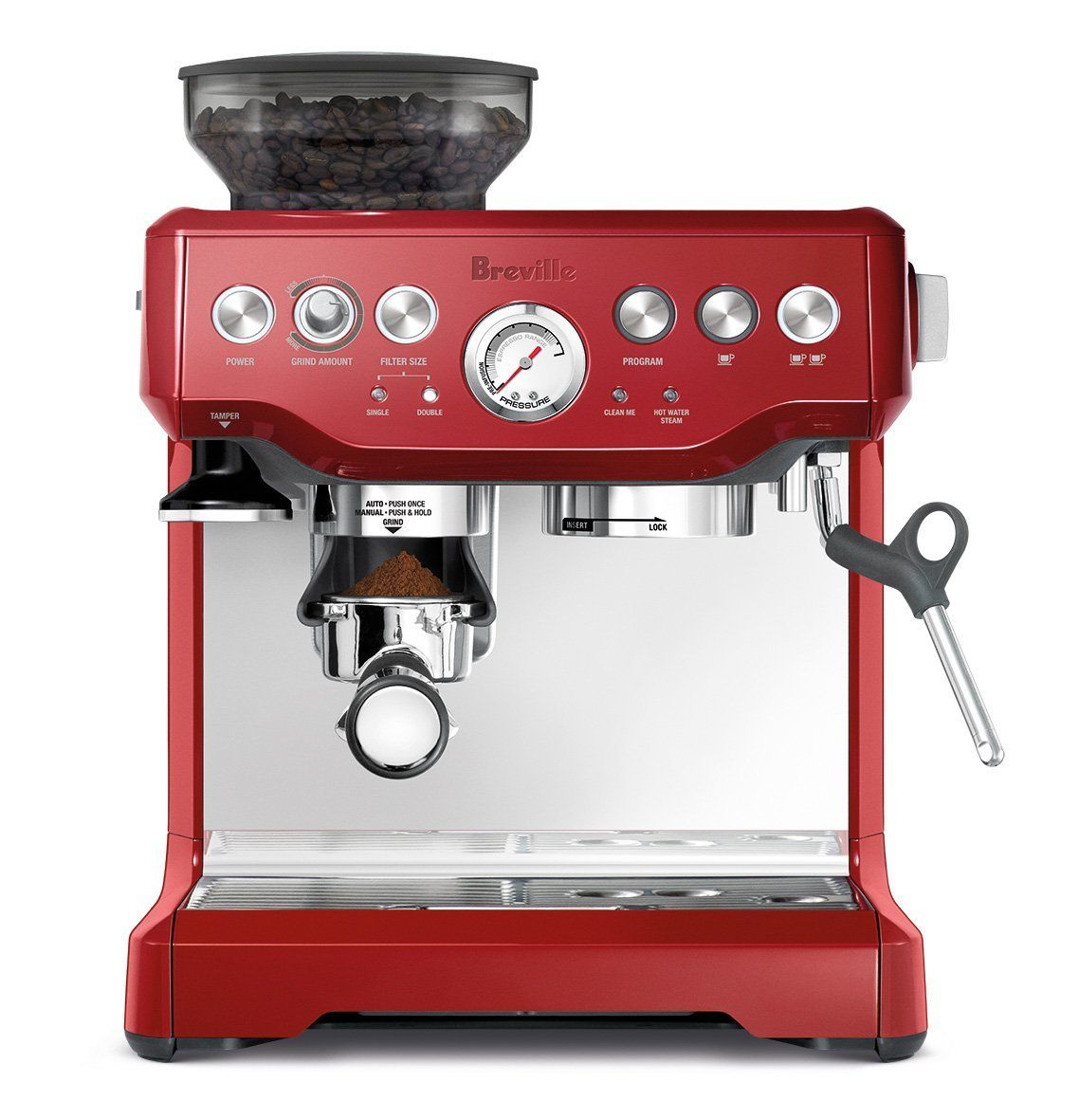 Breville Bes870cbxl The Barista Express Coffee Machine Cranberry Red Check Out The Image By Espresso Machine Breville Espresso Commercial Espresso Machine