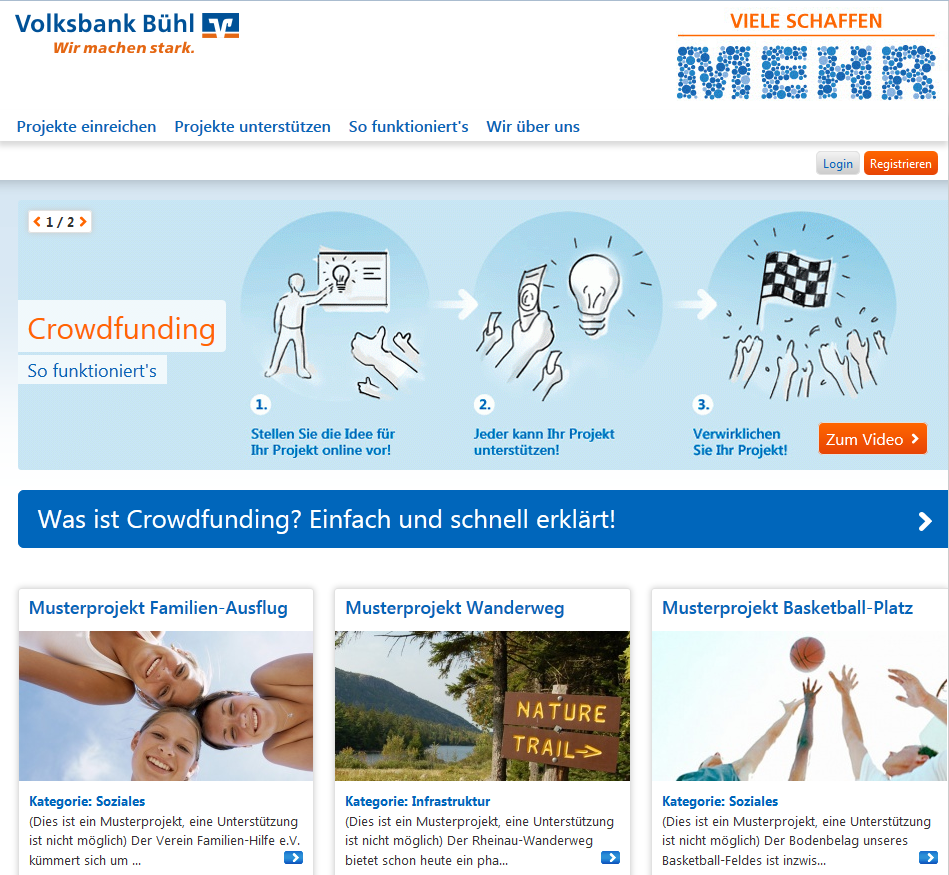 1k German Cooperative Banks Can Now Launch Own Regional Crowdfunding Platforms Banking Innovation Volksbank Buhl O Crowdfunding Product Launch Cooperation