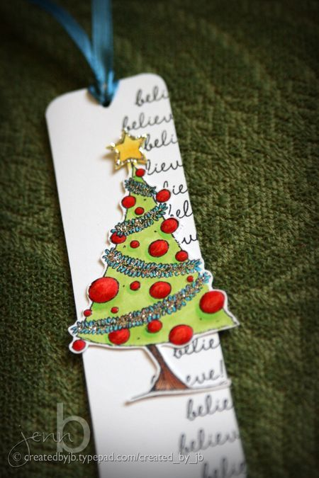 christmas bookmark by jenn biederman stacey yacula studio stamps from purple onion designs stacey yacula the sweetest season collection pinterest