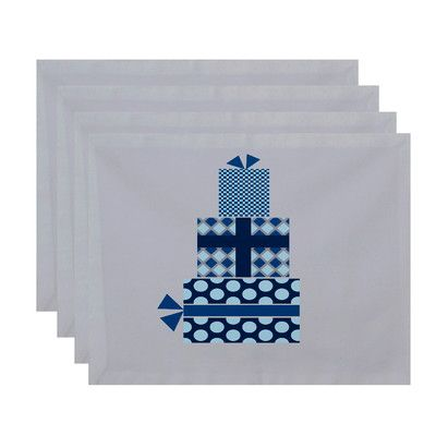 Mercury Row Gift Wrapped Geometric Print Placemat Color: Teal