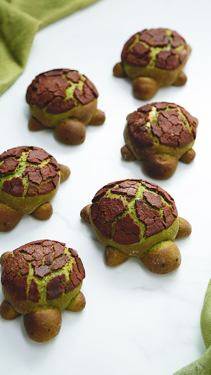 Matcha Milchbrot Schildkröten  #matcha #milchbrot #schildkroten, #desertlife