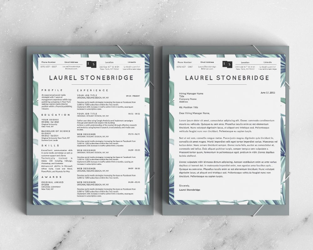 beautiful resume and cover letter template for ms word