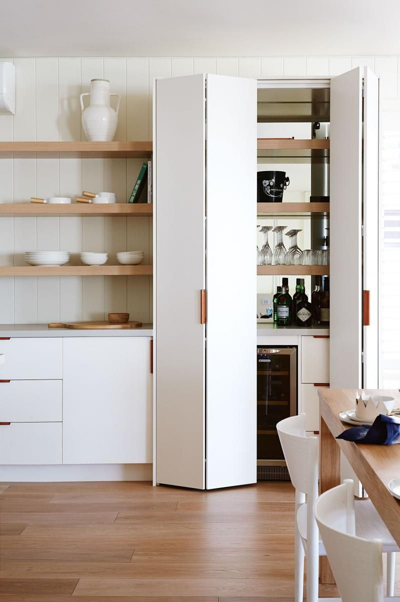 Joinery in a nook means no wasted space. Create a pantry or a wine ...