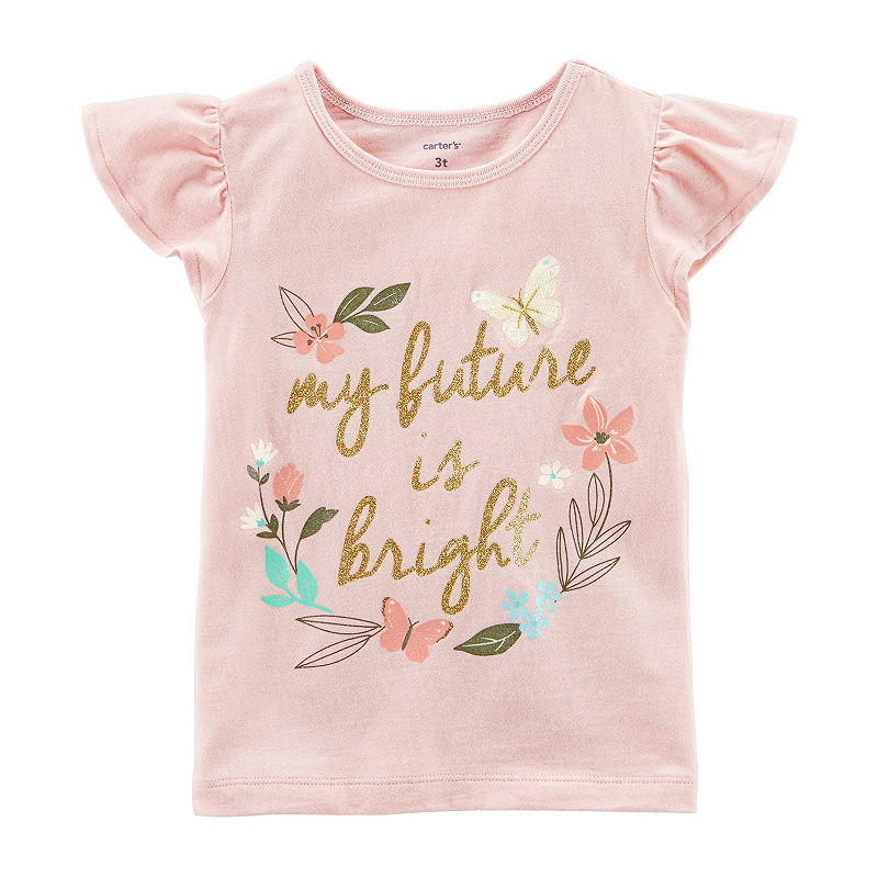 Baby Brt Pink Carters Baby Girls Graphic Tee