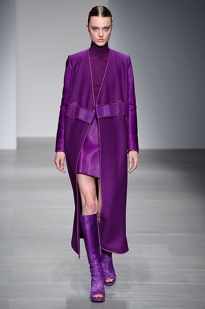 David Koma, AW14 #LFW - Yes purple #falltrends14