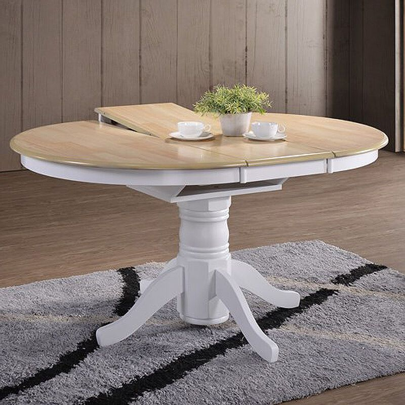 Large Extending Dining Table Farmhouse Oak Round Solid