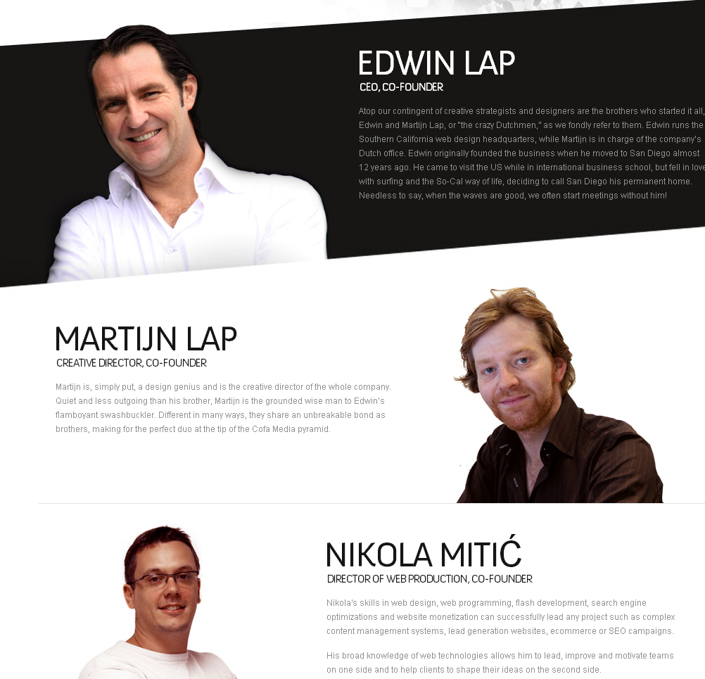 Team Bio Design At Cofamedia  Company Bio Template